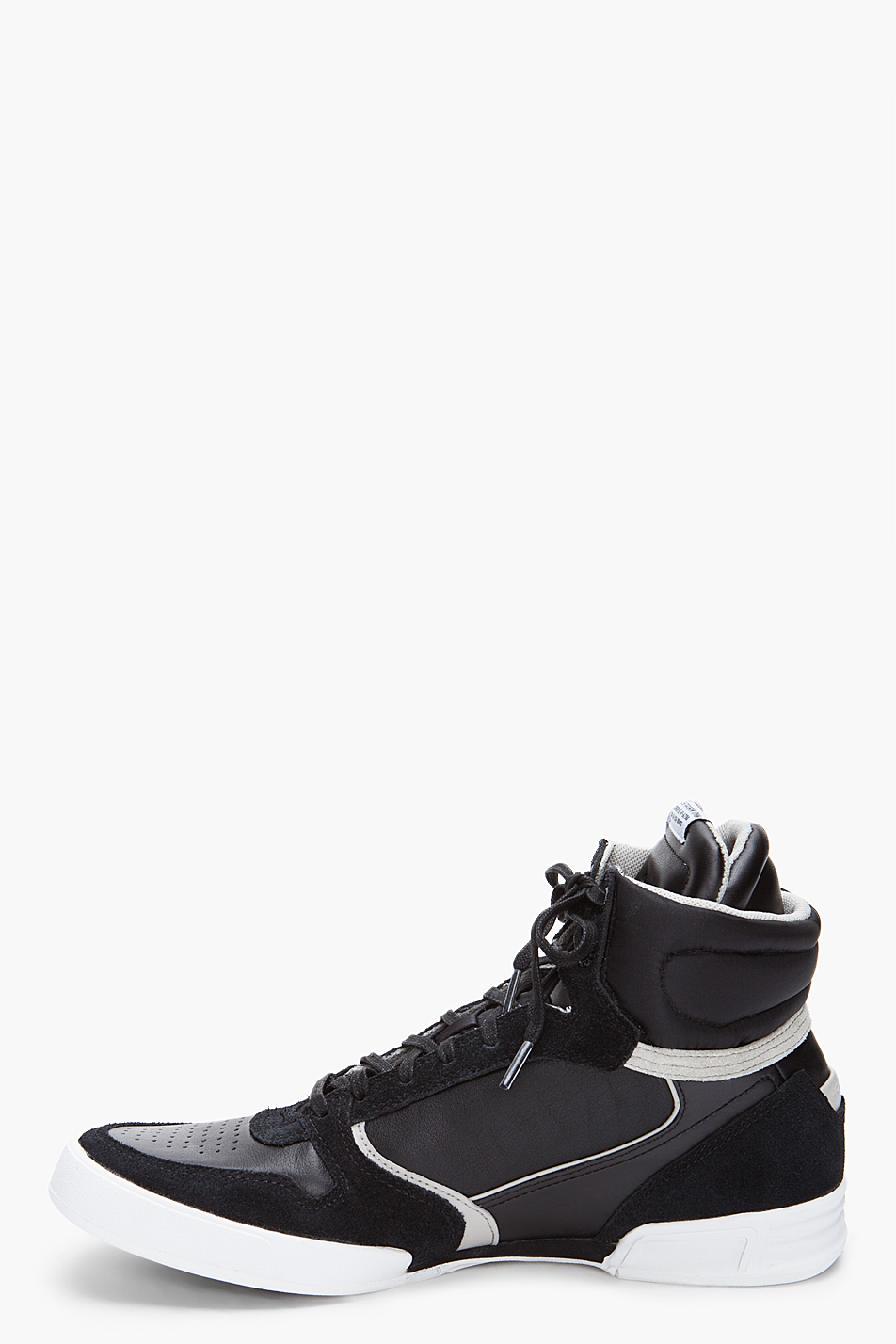 g star raw yard skirmish hi top sneaker in black in black for men lyst. Black Bedroom Furniture Sets. Home Design Ideas