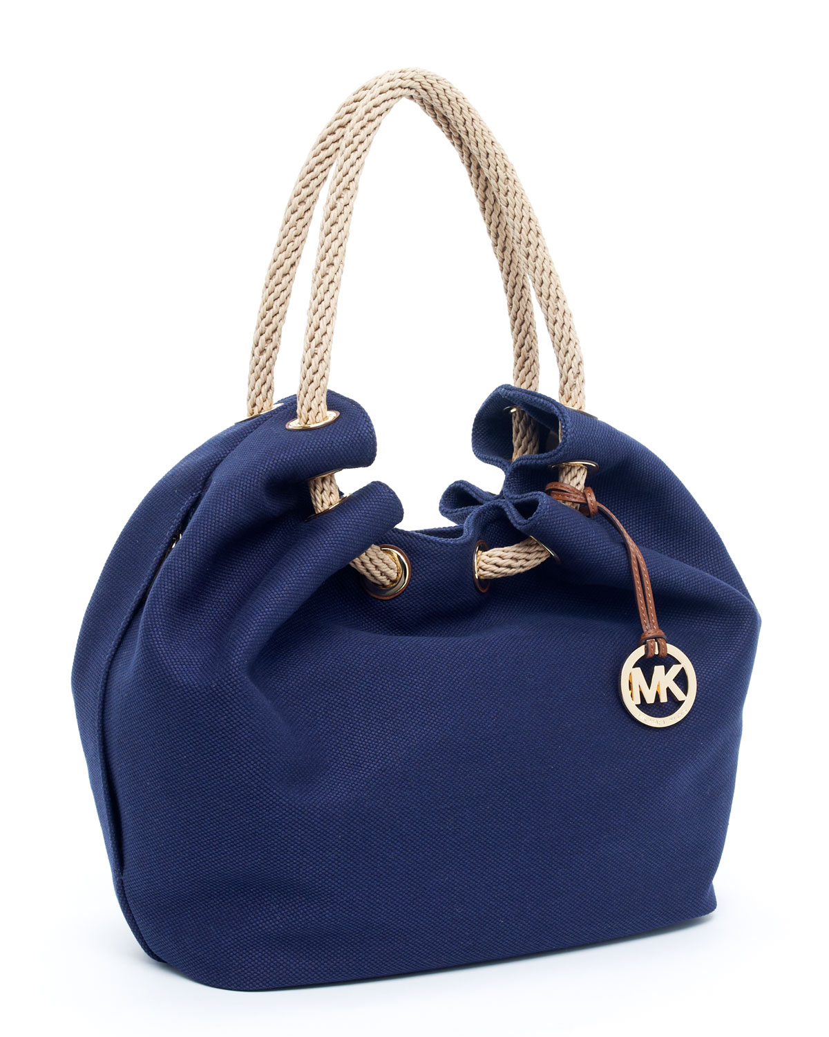 3d777e3711f756 Michael Kors Marina Large Shoulder Tote, Navy in Blue - Lyst