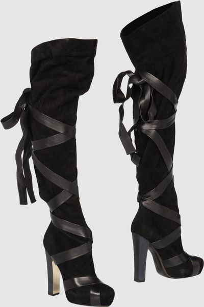 Roberto Cavalli High Heeled Boots in Black - Lyst