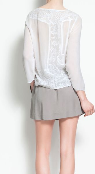 Zara White Studded Blouse 119