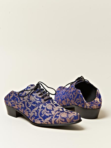 Haider Ackermann Womens Babouche Style Oxford Shoes In Blue   Lyst