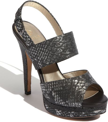 Isola Damani Sandal in Black (gunmetal snake) - Lyst