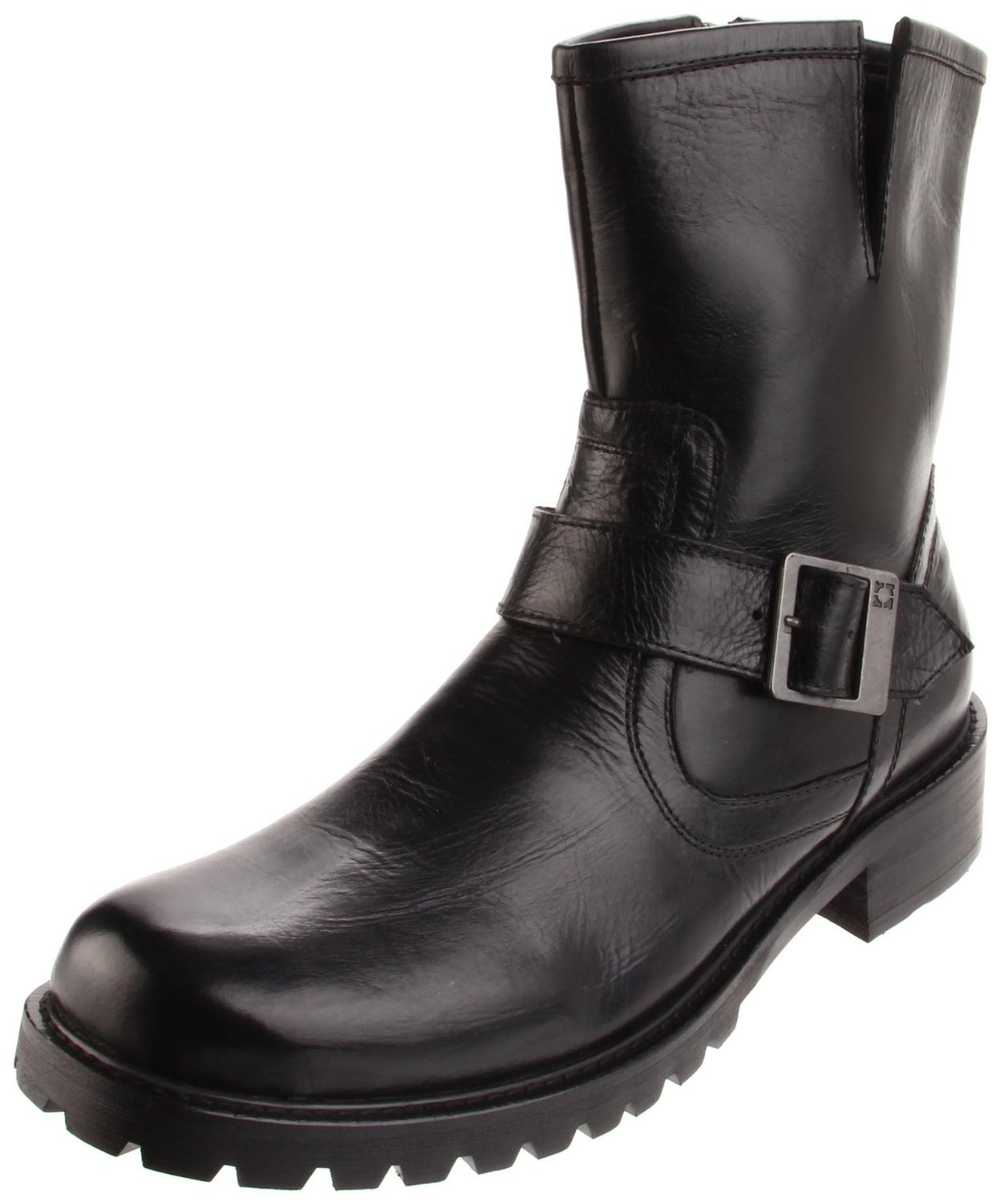 kenneth cole reaction mens march on lug sole boot in black