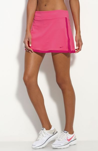 Nike Border Tennis Skirt in Pink (voltage pink) | Lyst