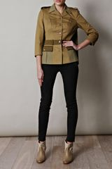 Alexander Mcqueen Military Twill Simple Jacket in Beige (khaki) - Lyst