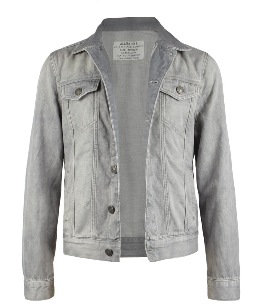 Lyst allsaints powder denim jacket in gray for men jpg 900x1045 All saints  denim jacket 8561c303e