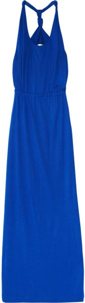 Chinti And Parker Twisted Halterneck Bamboojersey Maxi Dress in Blue (bamboo) - Lyst
