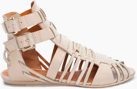 Givenchy Beige Virginia Strap Sandals in Beige - Lyst