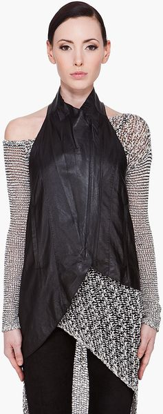 Helmut Lang Slouchy Leather Vest - Lyst
