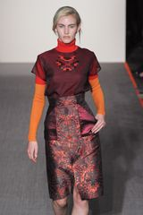 Matthew Williamson Fall 2012 Long Sleeve Turtleneck in ColourBlock  in Orange - Lyst