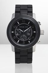Michael Kors Black Stainless Steel Chronograph Watch - Lyst