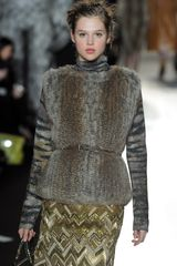 Mulberry Fall 2012 Long Sleeve Tiger Print Turtleneck Sweater In Grey - Lyst
