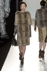 Mulberry Fall 2012 Fur Knit Gillet In Grey in Gray - Lyst