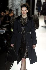 Mulberry Fall 2012 Rabbit Trimmed Hooded Coat - Lyst