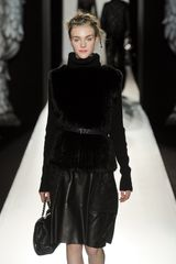 Mulberry Fall 2012 Fur Knit Gilet In Black  - Lyst