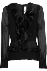 Prabal Gurung Ruffled Silk-chiffon Blouse