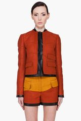 Proenza Schouler Leather Trimmed Tweed Jacket - Lyst