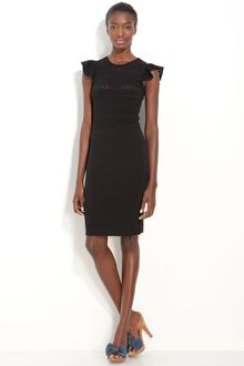 RED Valentino Embroidered Knit Dress - Lyst