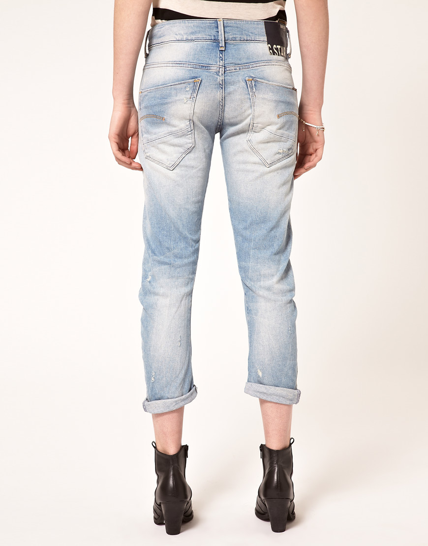 lyst g star raw g star kate tapered jeans in blue. Black Bedroom Furniture Sets. Home Design Ideas