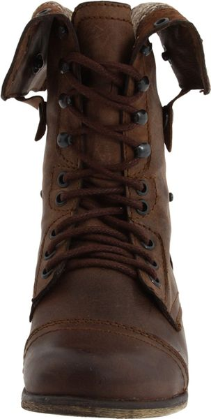 Steve Madden Womens Cablee Lace Up Boot In Brown Brown