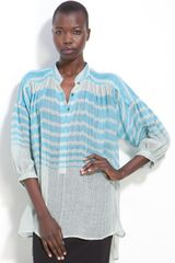 Tracy Reese Stripe Linen Shirt - Lyst