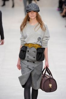 Burberry Prorsum Fall 2012 Herringbone Tweed Cap in Grey - Lyst