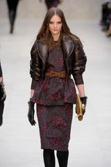 Burberry Prorsum Fall 2012 Ruched Bow Detail Belt - Lyst