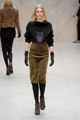 Burberry Prorsum Fall 2012 Brown Pointy Heeled LaceUp Ankle Boots in Brown - Lyst