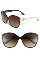Bvlgari Round Cats Eye Sunglasses - Lyst