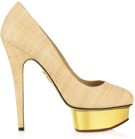 Charlotte Olympia Dolly in Beige (natural) - Lyst
