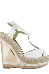 Christian Louboutin 140mm Trotolita Patent & Mirror Wedges - Lyst