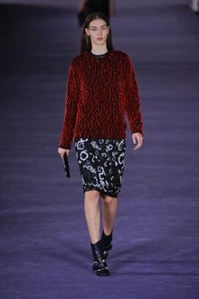 Christopher Kane Fall 2012 Floral Embroidered Pencil Skirt - Lyst