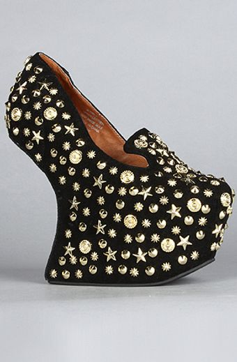 Jeffrey Campbell The Studded Blyke Shoe in Black Suede - Lyst