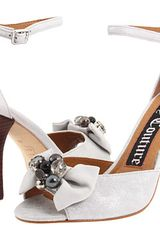 Juicy Couture Deco Metallic Leather Heels - Lyst