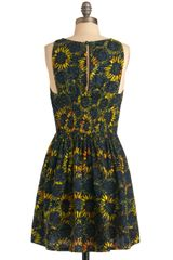 Modcloth Electric Sun Dress in Blue (sky) - Lyst