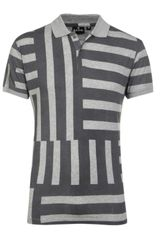 PS by Paul Smith Patterned Polo Shirt - Lyst