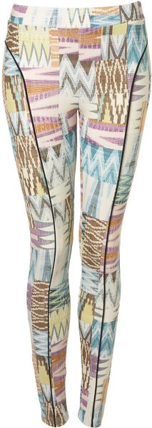 Topshop Pastel Aztec Print Leggings in Multicolor (multi) - Lyst