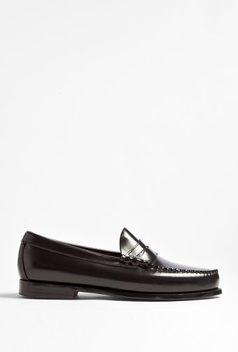 Bass Weejuns Black Leather Larson Loafers - Lyst