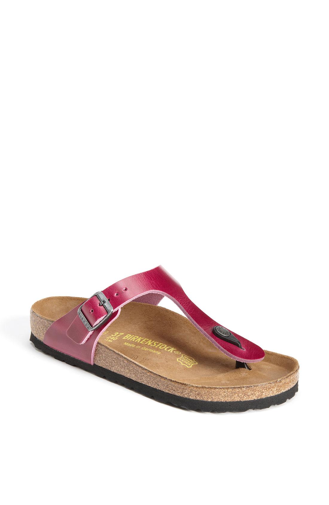 birkenstock gizeh sandal in pink orchid lyst. Black Bedroom Furniture Sets. Home Design Ideas