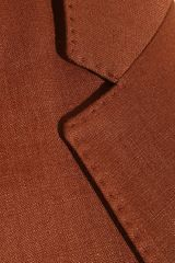 Burberry Oversized Wool and Linenblend Jacket in Red (rust) - Lyst