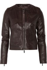 Calvin Klein Adna Leather Jacket - Lyst