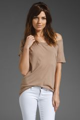 Enza Costa Off The Shoulder Tee - Lyst