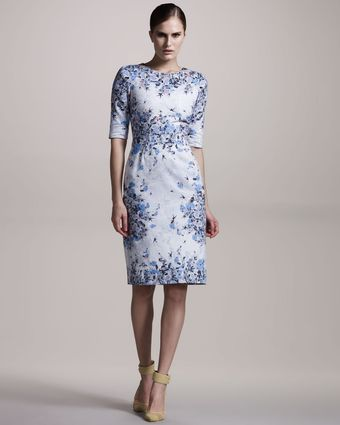 Erdem Ivy Floral-print Cotton Dress - Lyst