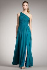 Halston Heritage One-shoulder Gown - Lyst