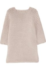 J Brand Moyet Chunkyknit Cottonblend Sweater in Purple (taupe) - Lyst