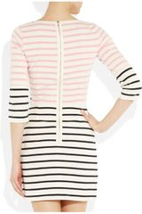 Markus Lupfer Charlotte Striped Cotton Dress in Pink - Lyst