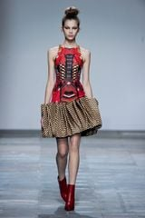 Mary Katrantzou Fall 2012 Magic Eye Godet Dress in Red - Lyst