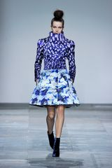 Mary Katrantzou Fall 2012 Magic Eye Funnel Neck Coat  - Lyst