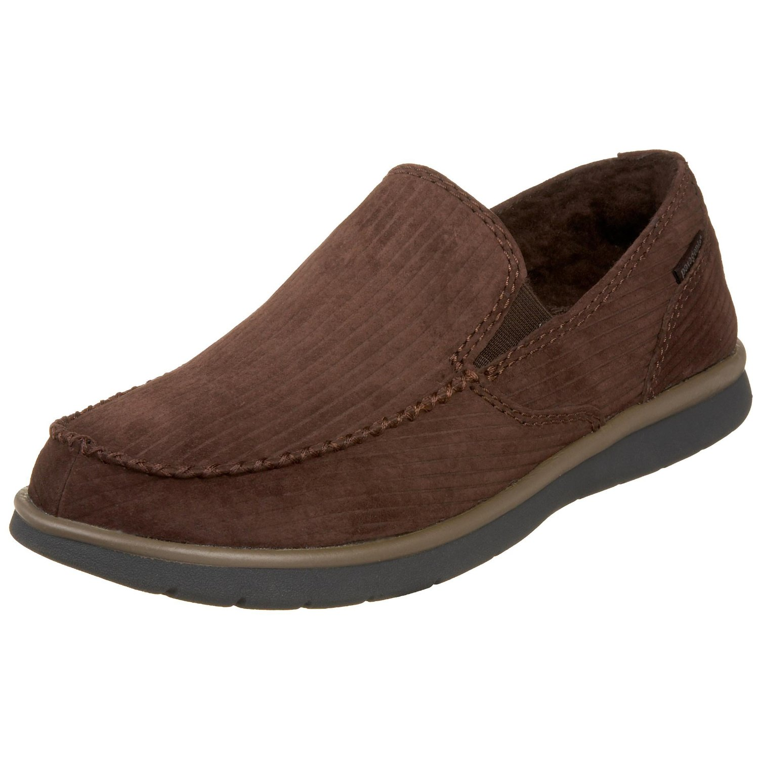 patagonia mens moc fleece lined shoe in brown for