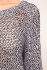 Vanessa Bruno Athé Vanessa Bruno Athe Cotton Knit Jumper in Gray (blue) - Lyst